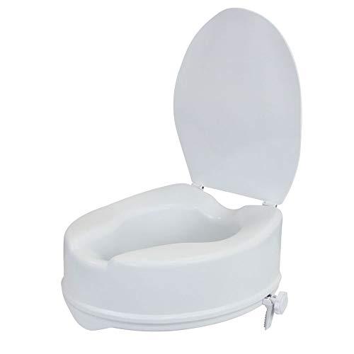 flexilife Toilettensitzerhöhung mit Deckel für Senioren - wahlweise 10cm o. 15cm - WC Sitzerhöhung Toilettenaufsatz Toilettenerhöhung (15 cm)