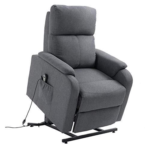 CARO-Möbel Fernsehsessel RetireRelaxsessel Ruhe TV Sessel mit elektrischer Liege- und Aufstehfunktion in grau*