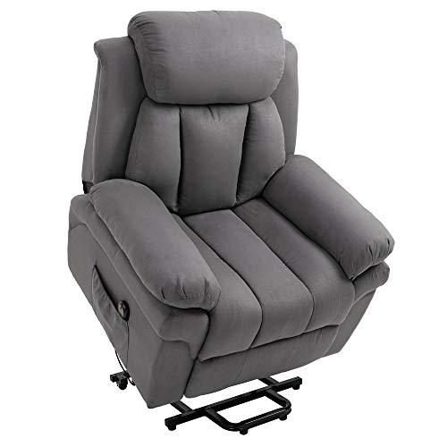 HOMCOM Elektrischer Fernsehsessel Aufstehsessel Relaxsessel Sessel mit Aufstehhilfe, Grau, 96L x 93B x 103H cm*