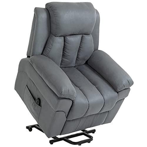 HOMCOM Elektrischer Fernsehsessel Aufstehsessel Relaxsessel Sessel mit Aufstehhilfe, Grau, 96 x 93 x 105 cm*
